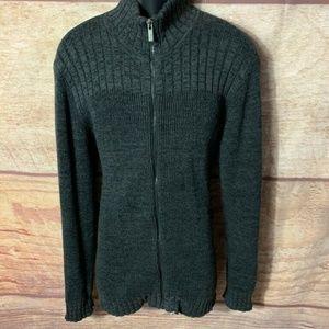 Calvin Klein & Co Mens Zip Up Sweater Black High L